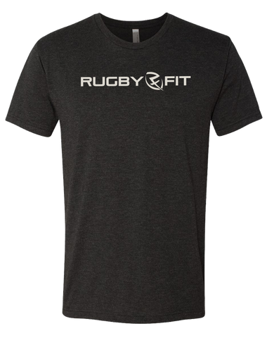 RugbyFit Tee (Cement on Vintage Black)