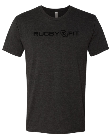 RugbyFit Tee (Black on Charcoal)