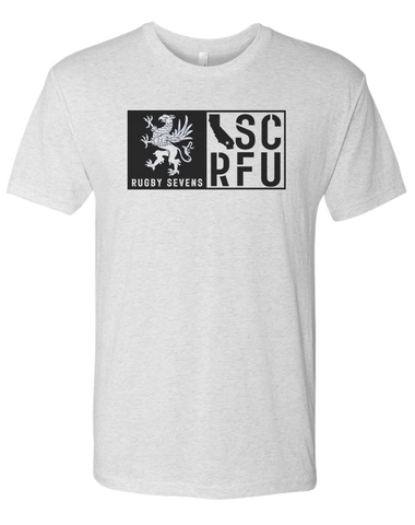 SCRFU Rugby Sevens Mens Tee (Heather White)