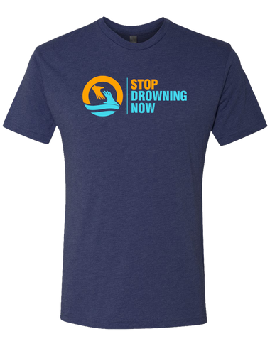 SDN Stop Drowning Now Mens Tri-Blend Crew (VintageNavy)