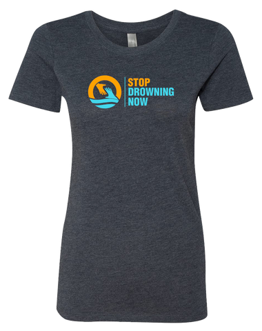 SDN Stop Drowning Now Womens Tri-Blend Tee (VintageNavy)