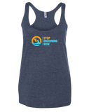 SDN Stop Drowning Now Womens Tri-Blend Racerback Tank (VintageNavy)