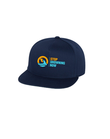 SDN Stop Drowning Now Snapback Cap (Navy)