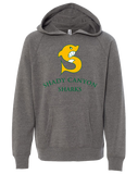 Shady Canyon Youth Raglan Hooded Pullover (Nickel)