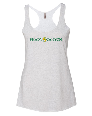 Shady Canyon Adult Womens TriBlend Racerback Tank (HeatherWhite)
