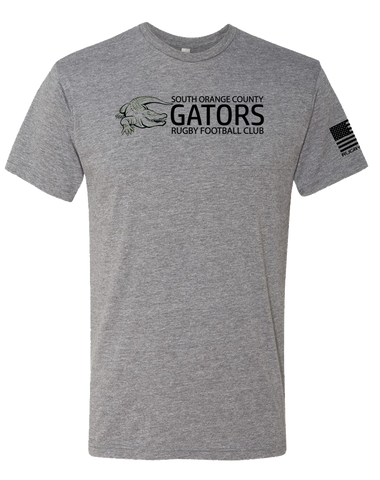Gator Rugby Classic Mens Tri-Blend Crew (PremiumHeather)