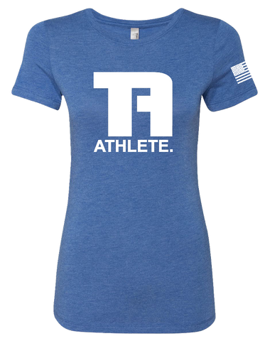 Tru Athletics Core Womens Tri-Blend Tee (VintageRoyal)