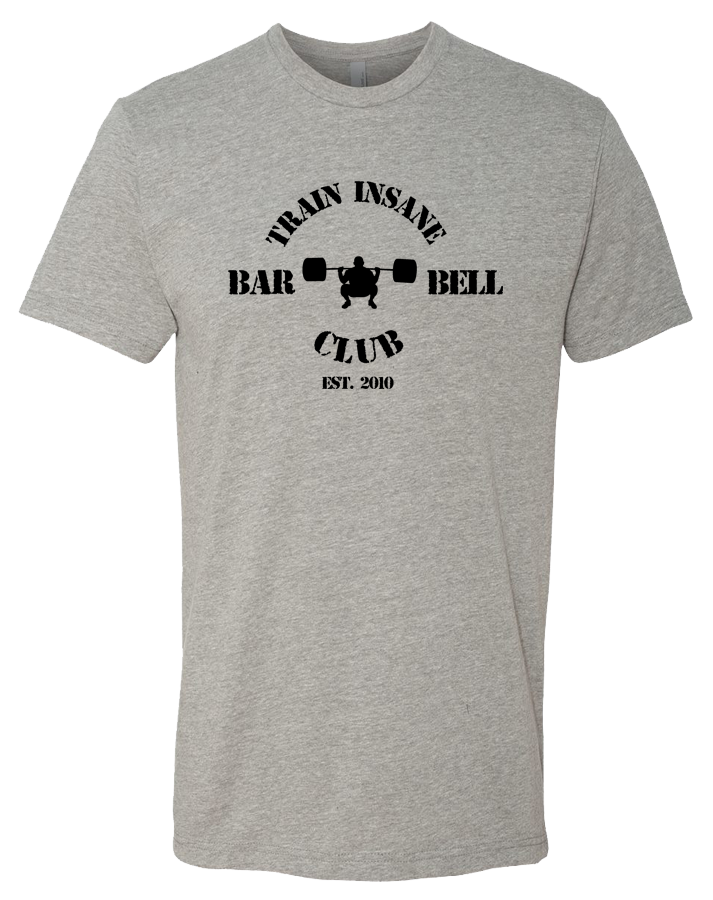 TI Barbell Club Mens Premium Fitted CVC Crew (DarkHeatherGray)