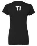 TI Power Lifting Team Womens CVC Crew (Black)