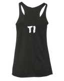 TI Power Lifting Team Womens Tri-Blend Racerback Tank (VintageBlack)