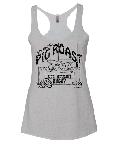UCR Pig Roast Ladies Racerback (Heather White)