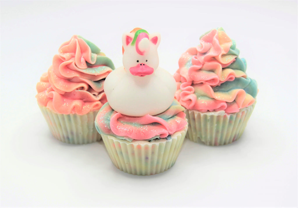 Unicorn Confetti Soap Cupcakes