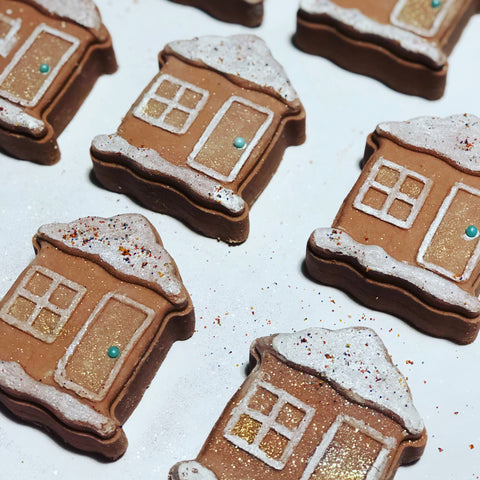 Gingerbread House Bubble Bath Bar