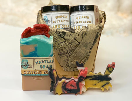 Maryland Crab Bushel Gift Set