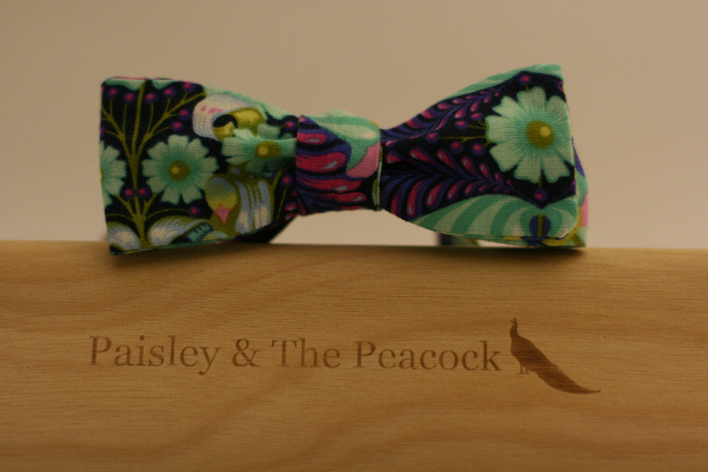 Whimsy Purple Bow Tie