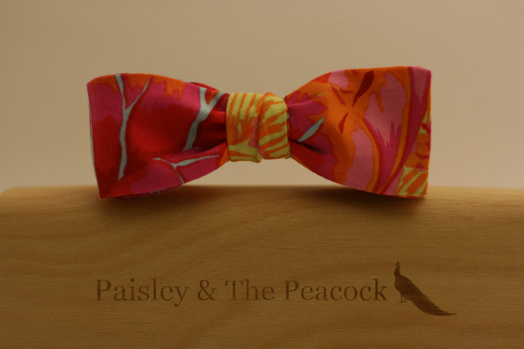 Lotus Sunset Bow Tie