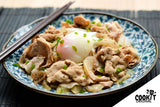 Japanese Style Pork and Konjac Suki Served with Onsen Egg