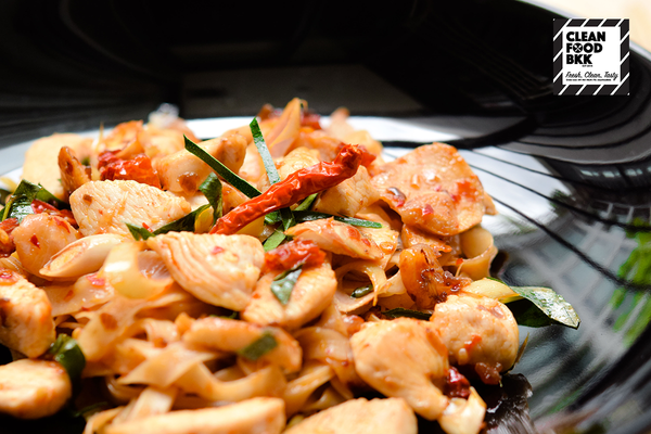 Spicy Chicken Tom-Yum Fettuccine
