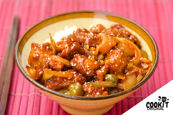 Sweet and Sour Pork (Subuta) with Japanese Rice