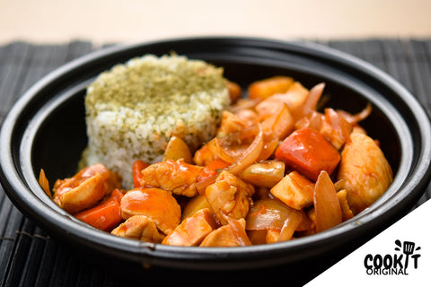 Stir Fried Chicken in Korean Sauce served with Japanese Rice (for 2)