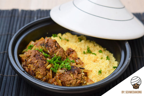 Beef Kofta served with Aromatic Couscous