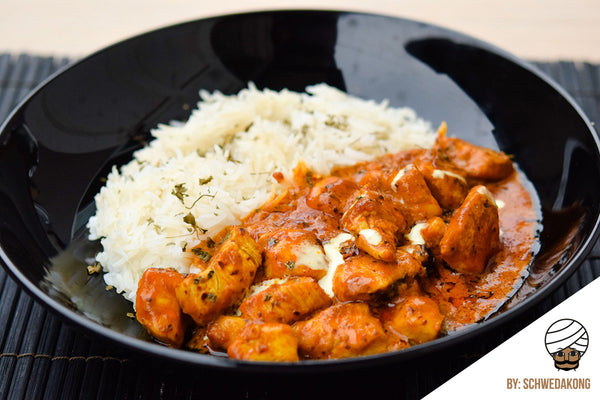 Butter Chicken Served with Basmati Rice