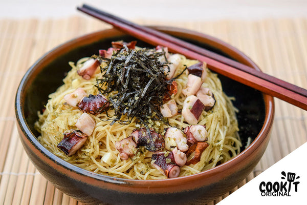Japanese Style Peperoncino Capellini with Octopus