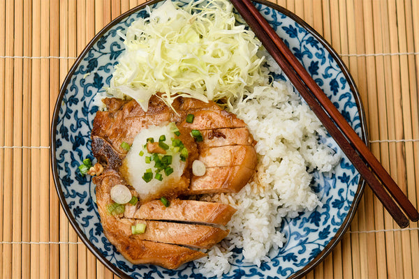 Wafu Pork Chop with Japanese Rice