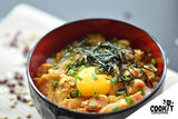 Oyakodon Topped with Raw Egg