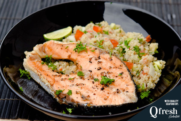 Grilled Salmon with Tabbouleh Salad