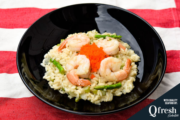 Creamy Shrimp and Asparagus Risotto