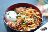 Kimchi Stir-Fried with Beef and Onsen Egg