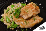 Pan-Seared Pork Loin served with Quinoa and Sugar Snap Peas Salad