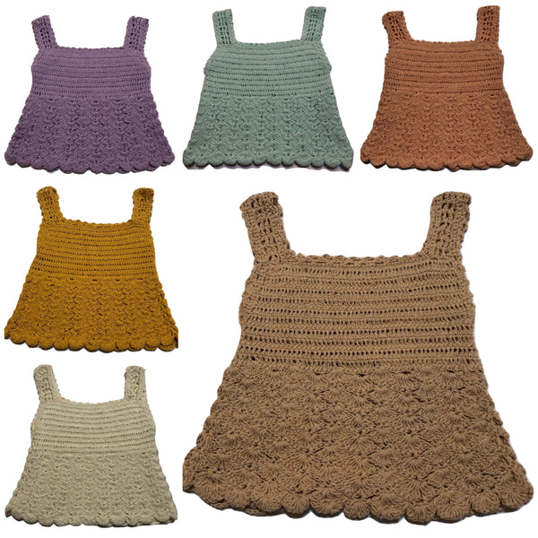 Crochet Girls Top - SHELLS