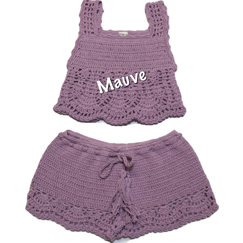Crochet Girls Top and Short Set - LACE WAVES