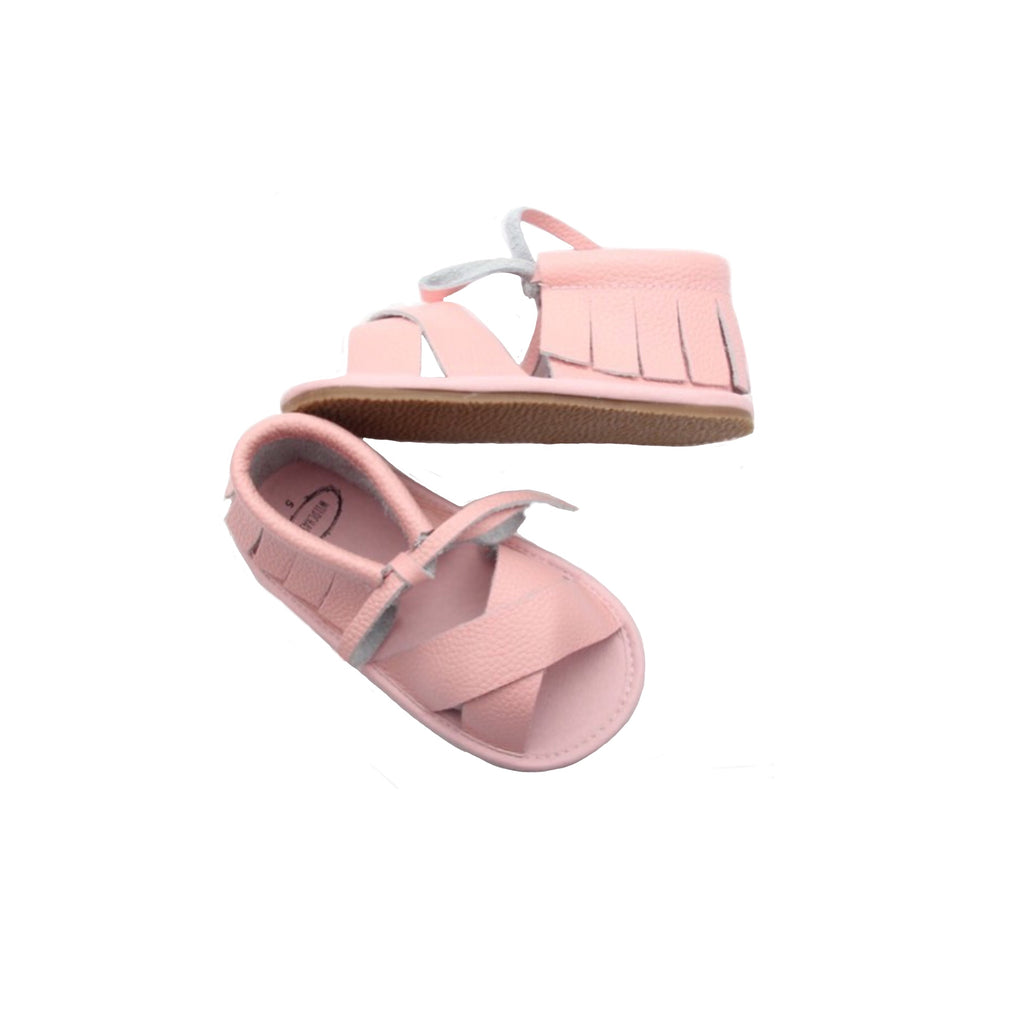 Boho Sandals - 100% Leather - Pink