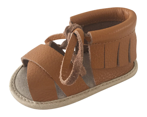 Boho Sandals - 100% Leather - Brown