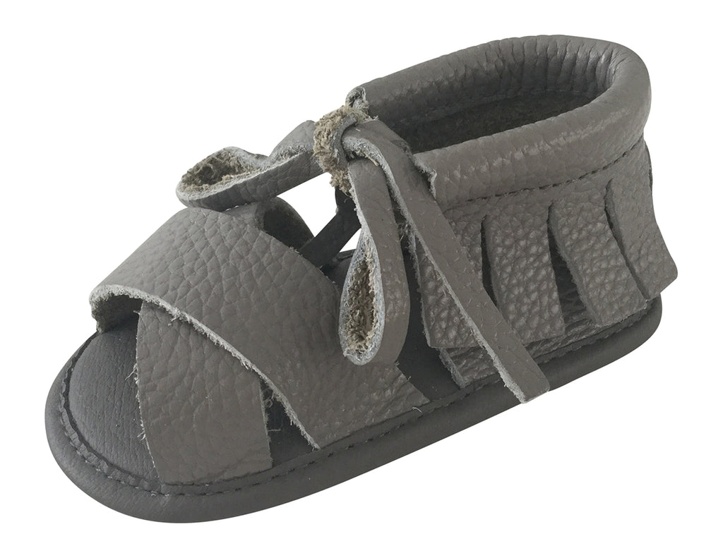 Boho Sandals - 100% Leather - Grey