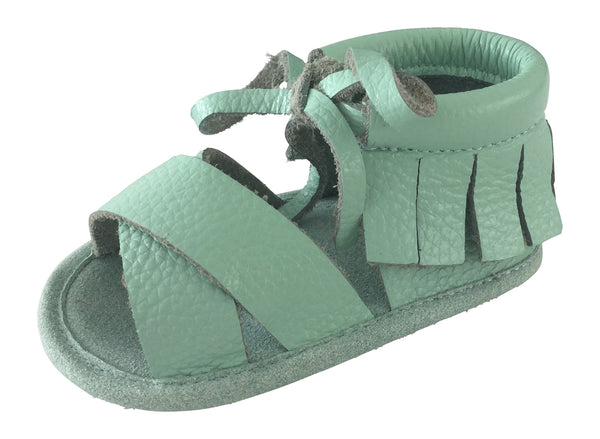 Boho Sandals - 100% Leather - Mint