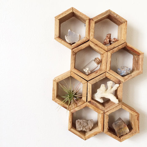Honeycomb Shelves - Ladder