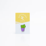 Prickly Pear Succulent Plant Enamel Lapel Pin