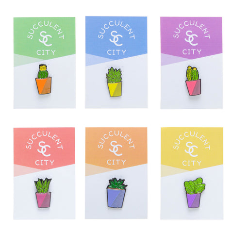 Premium Succlent and Cactus Plant Pin Set