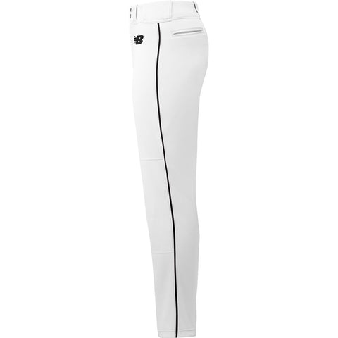 New Balance Adversary 2 Adult Piped Pant - White Black - Baseball Apparel, Softball Apparel - Hit A Double - 1
