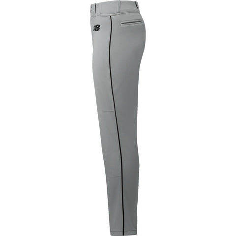 New Balance Adversary 2 Adult Piped Pant - Gray Black - Baseball Apparel, Softball Apparel - Hit A Double - 1