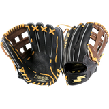 "SSK Highlight Pro Series 12.50"" Outfield Glove  - Black Tan - Baseball Gloves - Hit A Double - 3"