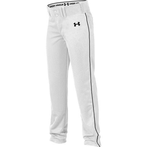 Under Armour Youth Next Open Bottom Pant - White Black