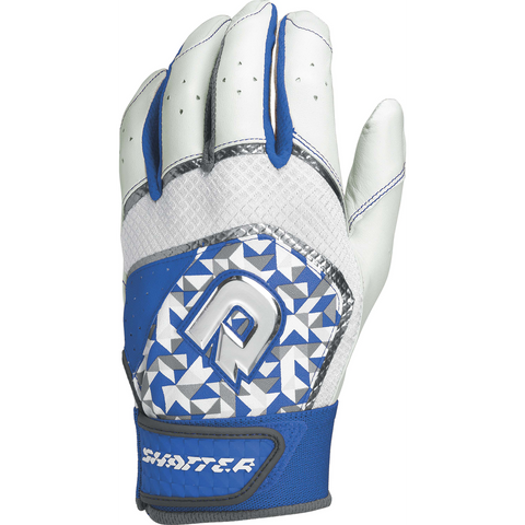DeMarini Shatter Adult Batting Gloves - Royal Print