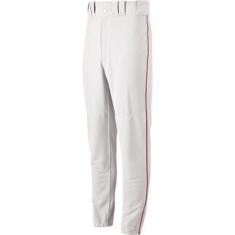 Mizuno Youth Select Piped Pant - White-Red