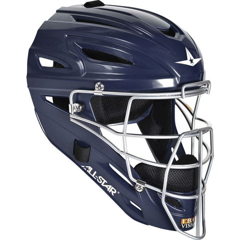 All-Star Adult System 7 Catcher's Helmet - Navy