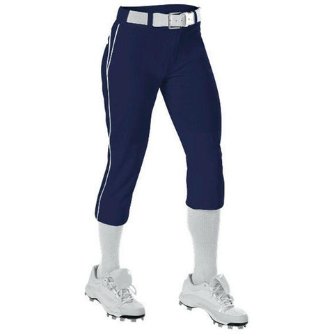 Alleson 625PBW Women's Belted Fastpitch Pant - Navy White